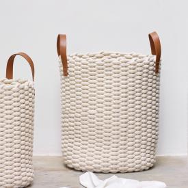 Aquanova RUDON laundry basket beige