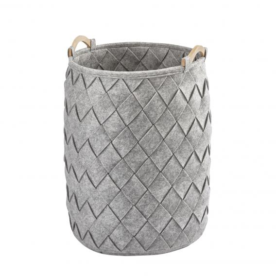 Aquanova AMY laundry basket, large silver grey/fir