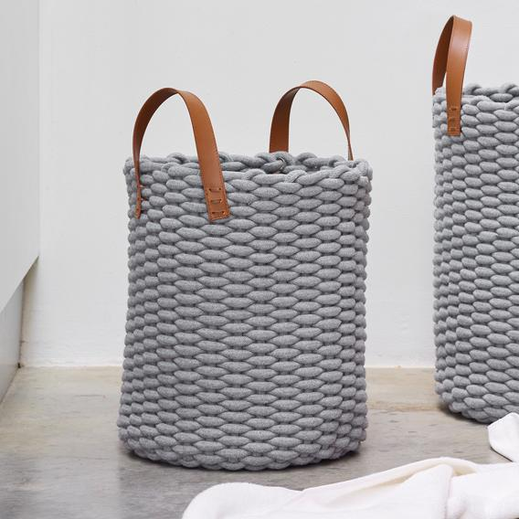 Aquanova RUDON storage basket grey
