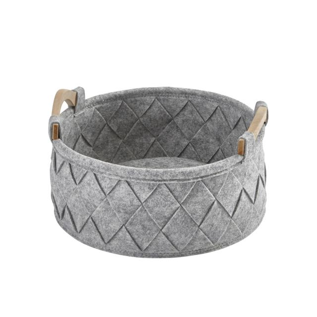 Aquanova AMY laundry basket, small silver grey/fir