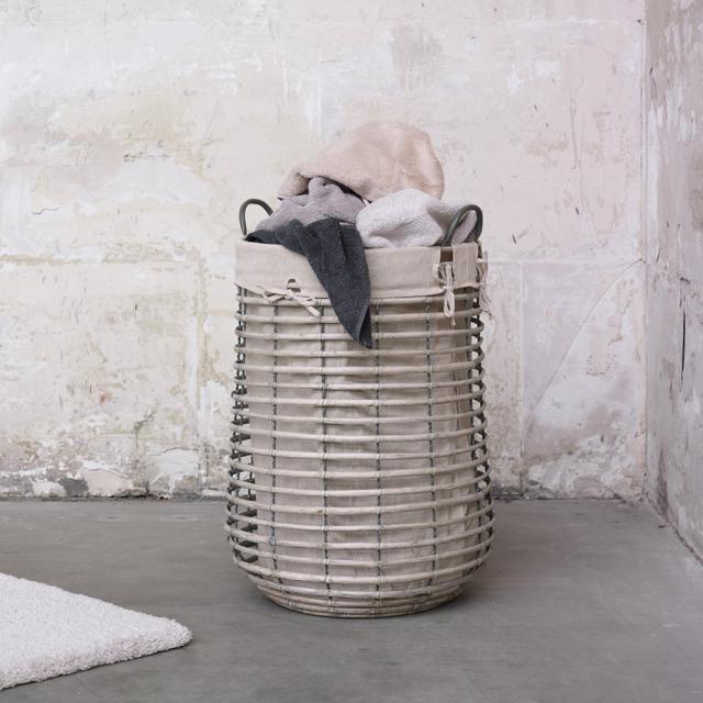 Aquanova GISLA laundry basket greige