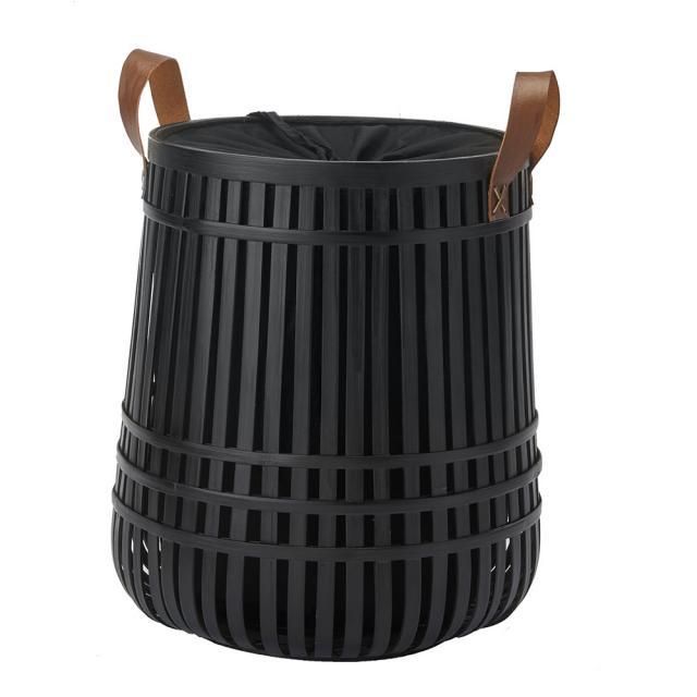 Aquanova KYOTO laundry bin black