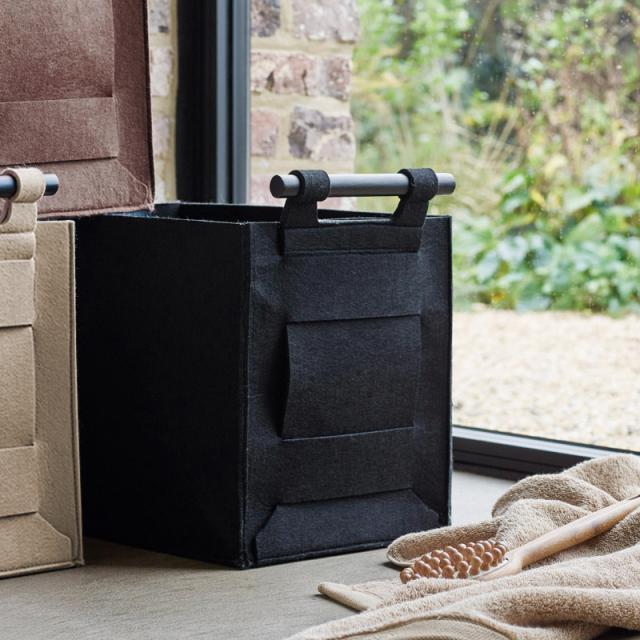 Aquanova LUZ storage basket black