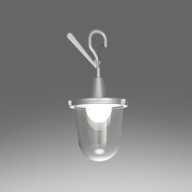 Artemide Tolomeo Lampione Outdoor LED pendant light w. hook