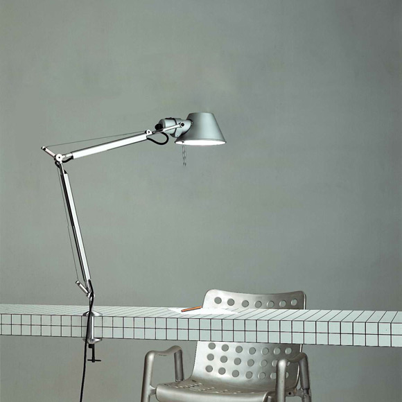 Artemide Tolomeo Mini LED table lamp with clamp and dimmer