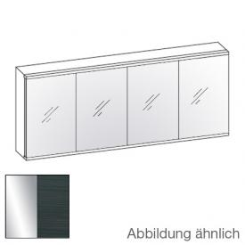 Artiqua Dimension 112 LED mirror cabinet front mirrored / corpus black hacienda horizontal