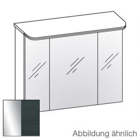 Artiqua Dimension 112 LED mirror cabinet with 3 doors front mirrored / corpus black hacienda horizontal