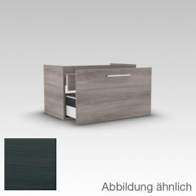 Artiqua 312 vanity unit W: 75 H: 43.3 D: 45.5 cm, 1 inside drawer front hacienda black / corpus hacienda black