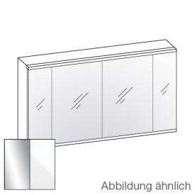 Artiqua 400 LED mirror cabinet W: 126.5 H: 73 D: 16 cm, 4 doors front mirrored / corpus white gloss