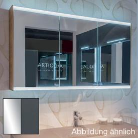 Artiqua 400 LED mirror cabinet W: 128.5 H: 73 D: 16 cm front mirrored / corpus anthracite gloss