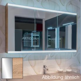 Artiqua 400 LED mirror cabinet W: 128.5 H: 73 D: 16 cm front mirrored / corpus castello oak horizontal