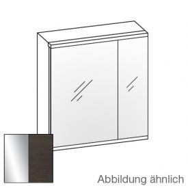 Artiqua Universal LED mirror cabinet front mirrored / corpus mocha structure horizontal