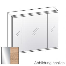Artiqua 400 LED mirror cabinet W: 84 H: 73 D: 16 cm front mirrored / corpus castello oak horizontal
