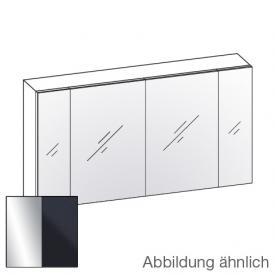 Artiqua 400 mirror cabinet W: 130 H: 70 D: 16 cm, 4 doors front mirrored / corpus anthracite gloss