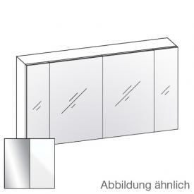 Artiqua 400 mirror cabinet W: 130 H: 70 D: 16 cm, 4 doors front mirrored / corpus white gloss
