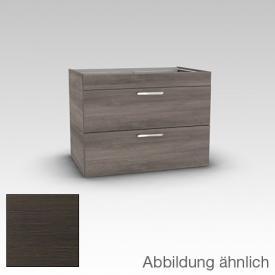 Artiqua 411 vanity unit with 2 drawers front mocha structure horiz. / corpus mocha structure horiz.