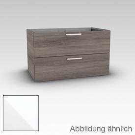 Artiqua 411 vanity unit with 2 drawers front white gloss / corpus white gloss