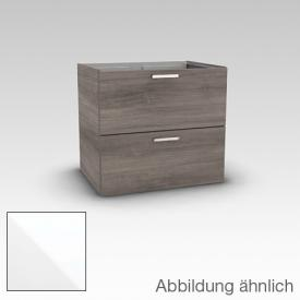 Artiqua 412 vanity unit with 2 drawers front white high gloss / corpus white gloss