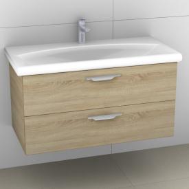 Artiqua 412 vanity unit W: 95 H: 49 D: 47.4 cm, 2 pull-out compartments, handle E front castello oak / corpus castello oak