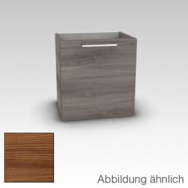 Artiqua 413 vanity unit for hand washbasin W: 38 H: 48.7 D: 28.5 cm, 1 door, hinged left, handle D170 front textured cherry / corpus textured cherry