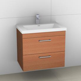 Artiqua 414 vanity unit with 2 pull-out compartments with D170 handle front textured natural / corpus textured natural