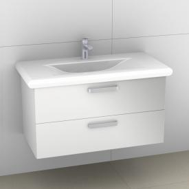 Artiqua 415 vanity unit W: 93 H: 48 D: 45 cm, 2 pull-out compartments, handle B178 front white high gloss / corpus white gloss