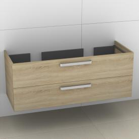 Artiqua Collection 412 vanity unit W: 125 H: 48 D: 51 cm, 2 pull-out compartments, handle B335 front castello oak / corpus castello oak