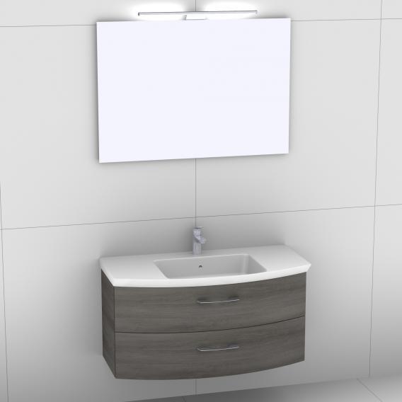 Artiqua 818 Block Washbasin With Vanity, Pull Out Mirror Bathroom