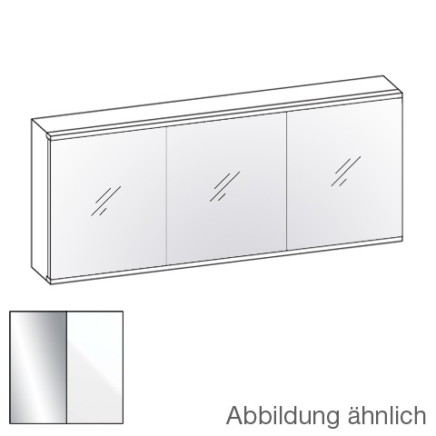 Artiqua 211 LED mirror cabinet with 3 doors front mirrored / corpus white gloss