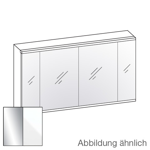 Artiqua 400 LED mirror cabinet with 4 doors front mirrored / corpus white gloss