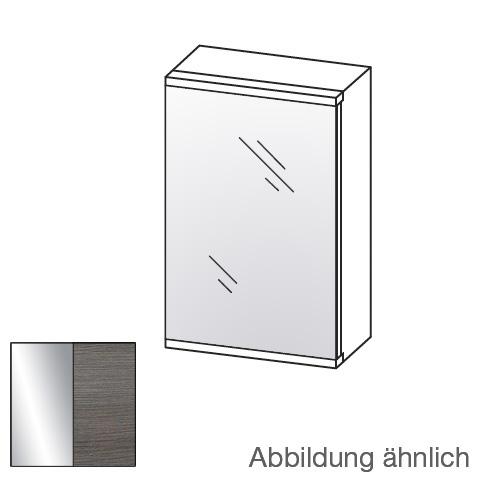 Artiqua 400 LED-Spiegelschrank mit 1 Tür front mirrored / corpus textured graphite