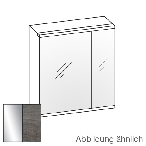 Artiqua 400 LED mirror cabinet with 2 doors front mirrored / corpus textured graphite