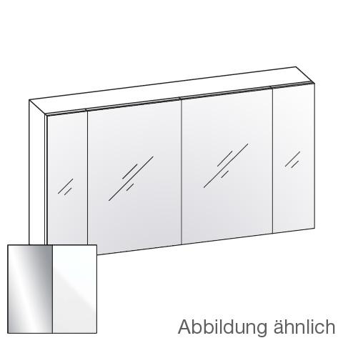 Artiqua 400 mirror cabinet with 4 doors front mirrored / corpus white gloss