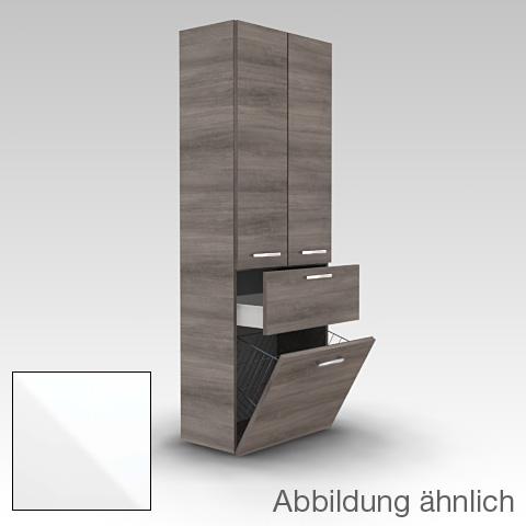 Artiqua 400 tall unit with 2 doors front white gloss / corpus white gloss