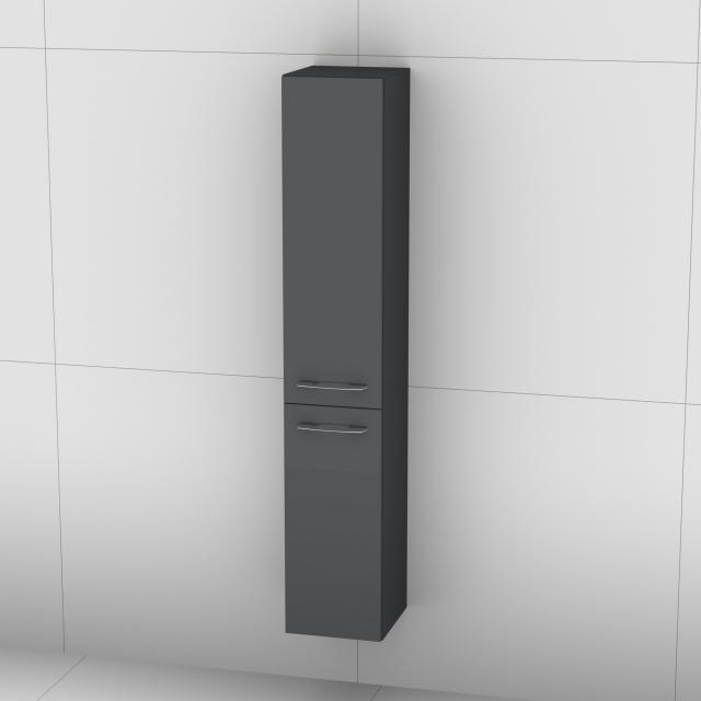 Artiqua 818 tall unit with 2 doors front anthracite high gloss / corpus anthracite gloss
