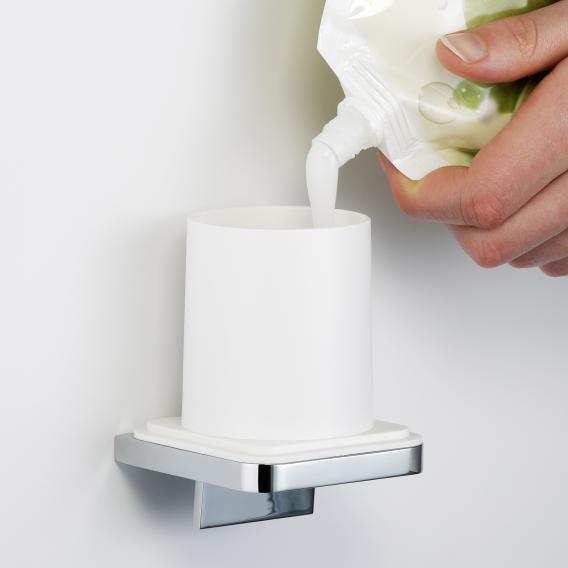 Avenarius Series 480 soap dispenser for single-handed operation chrome