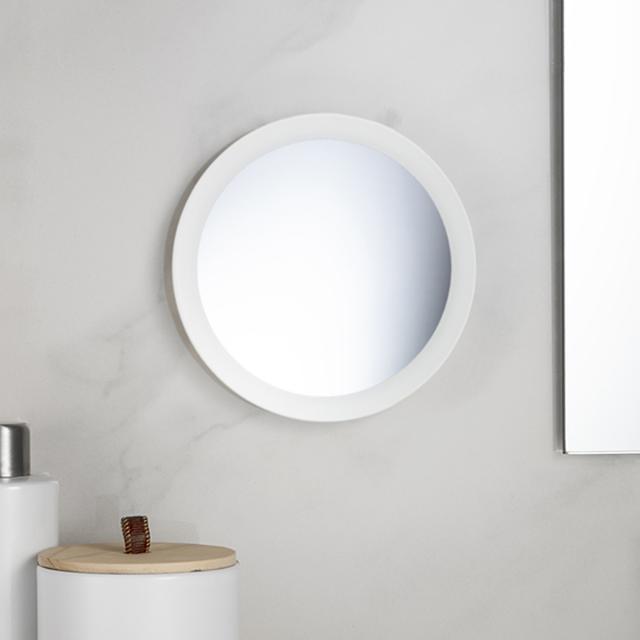 Avenarius beauty mirror, wall-mounted or freestanding white