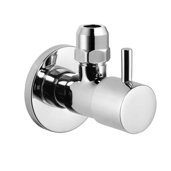 "Avenarius design angle valve 1/2"", round"