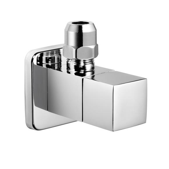 "Avenarius design angle valve 1/2"", square"