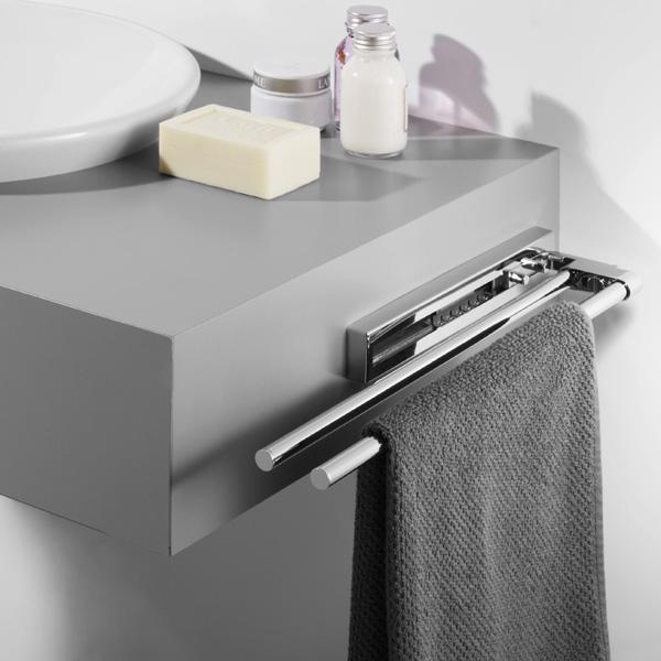 Avenarius double, telescopic towel bar