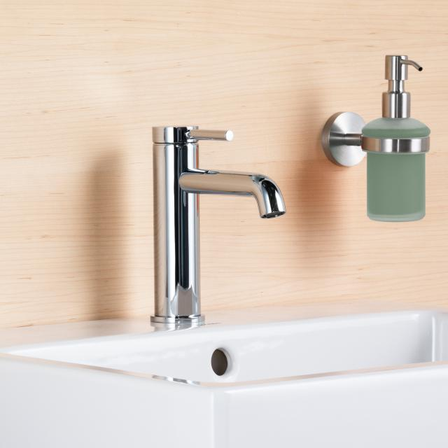 Avenarius Linie 280 single lever basin mixer, height 182 mm with push-open waste set