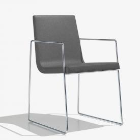 Andreu World Lineal Comfort chair with armrests, fabric