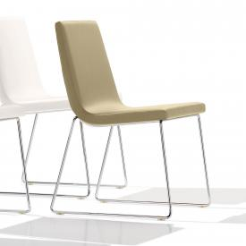 Andreu World Lineal Comfort chair with runners, real leather