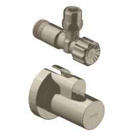 AXOR angle valve with sleeve, single brushed nickel
