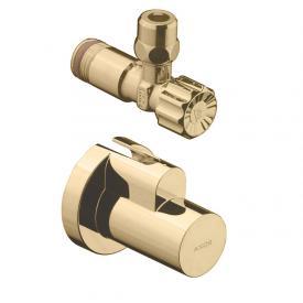 AXOR angle valve with sleeve, single polished brass