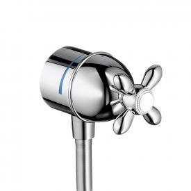 "AXOR Carlton Fixfit Stop shut-off valve with cross handle 1/2"" chrome"
