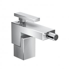 AXOR Edge single lever bidet mixer with diamond cut with push-open waste set