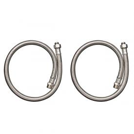 AXOR hose connection set for deck-mounted, two hole bath fittings with thermostat