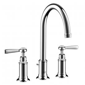 AXOR Montreux three hole basin fitting 180 with levers chrome