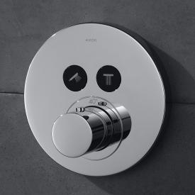 AXOR ShowerSelect Round concealed thermostat for 2 outlets chrome